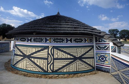 Ndebele house, Africa: