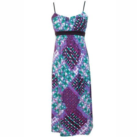 Luxury Divas Colorful Print Long Maxi Summer Dress - Walmart.com