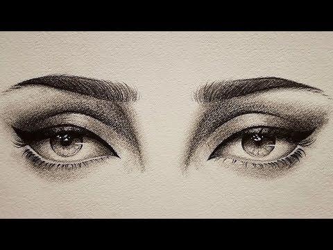 تعلم الرسم بالرصاص كيف ترسم العين الاخرى للمبتدئين القياس بدون مسطرة Youtube Eye Sketch Art Eye Drawing