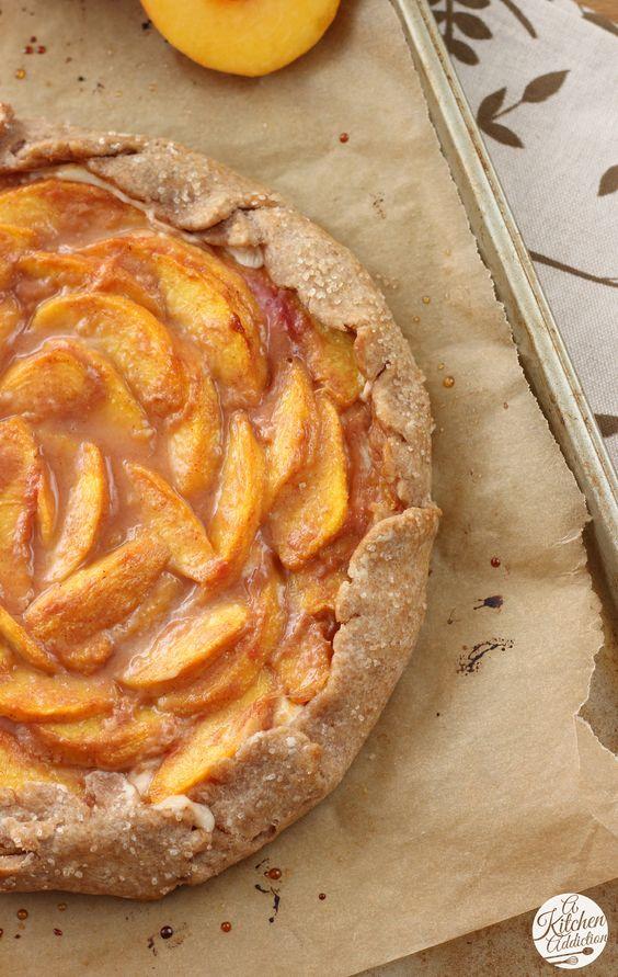 Peaches and Cream Crostata Recipe from @a kitchen addict.