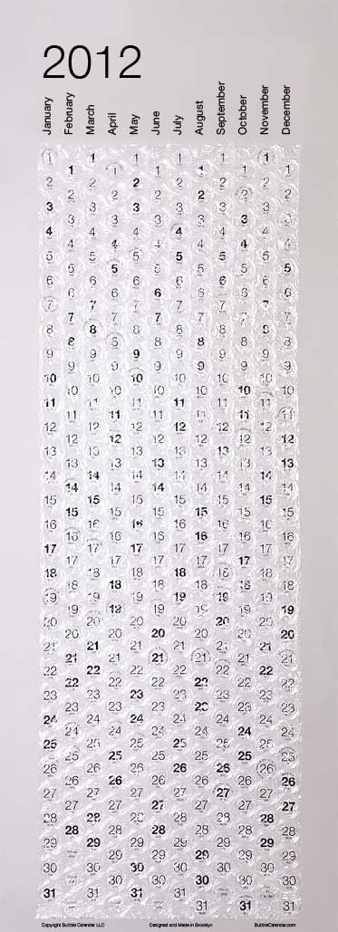 bubble calendar ... Note to self::Must do this next year