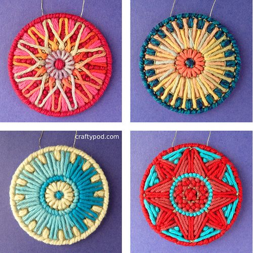Choose Your Own Design Adventure Ornaments - no rules; just stitch! canvas y aguja