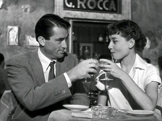 Audrey Hepburn and Gregory Peck in Roman Holiday: