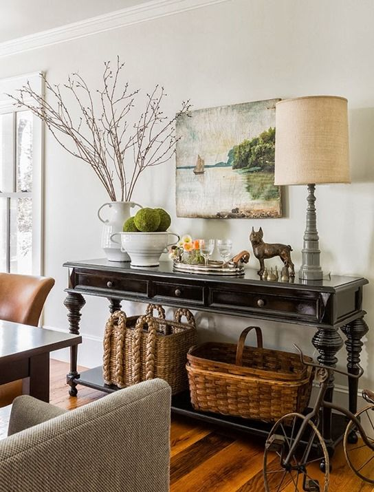 Fall is approaching and in this season I get all vignetty – that desire to style vignettes around...