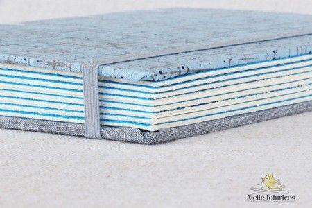 Caderno Azul/Marrom - Ateliê Fofurices