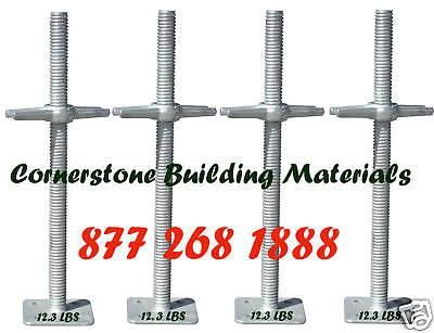 Business Industrial: New 24 X 1 3/8 Scaffolding Galvanized Screw Jack With Baseplate A Set Of 4 Cbm BUY IT NOW ONLY: $59.0 #priceabateBusinessIndustrial OR #priceabate