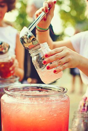 cute mason jar drinks