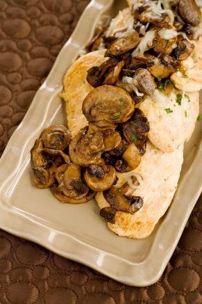 Chicken Georgia... with mushrooms shallots and mozzarella