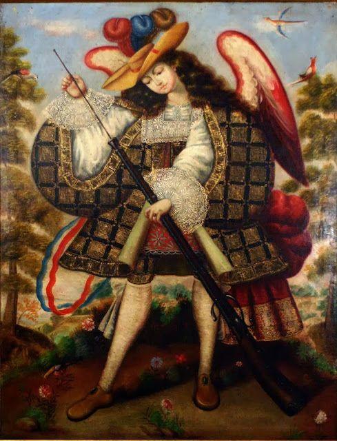 Ángel arcabucero, Museo de Bellas Artes de Salamanca, autor desconocido.  Ab laeva rite probatum: septiembre 2013