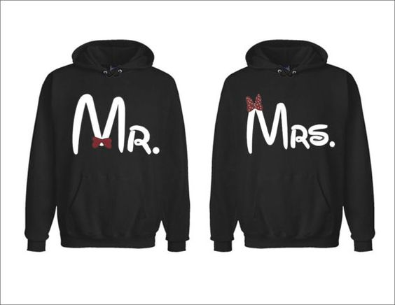 Mr and Mrs Disney Matching Couples Hoodies Two for 4999