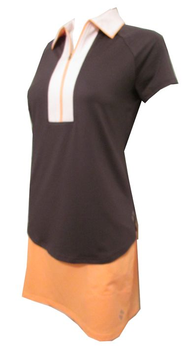 Sonoma (Slate & Tangerine) JoFit Ladies & Plus Size Swing Golf Outfit now at one of the top shops for ladies golf apparels #lorisgolfshoppe