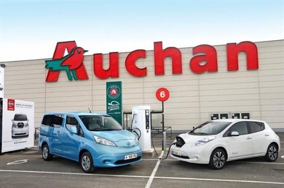 Auchan : la première borne de recharge rapide installée !