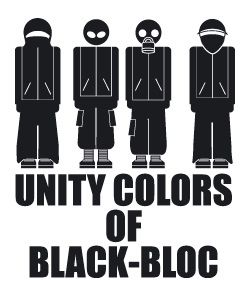 Unity colors of black-bloc