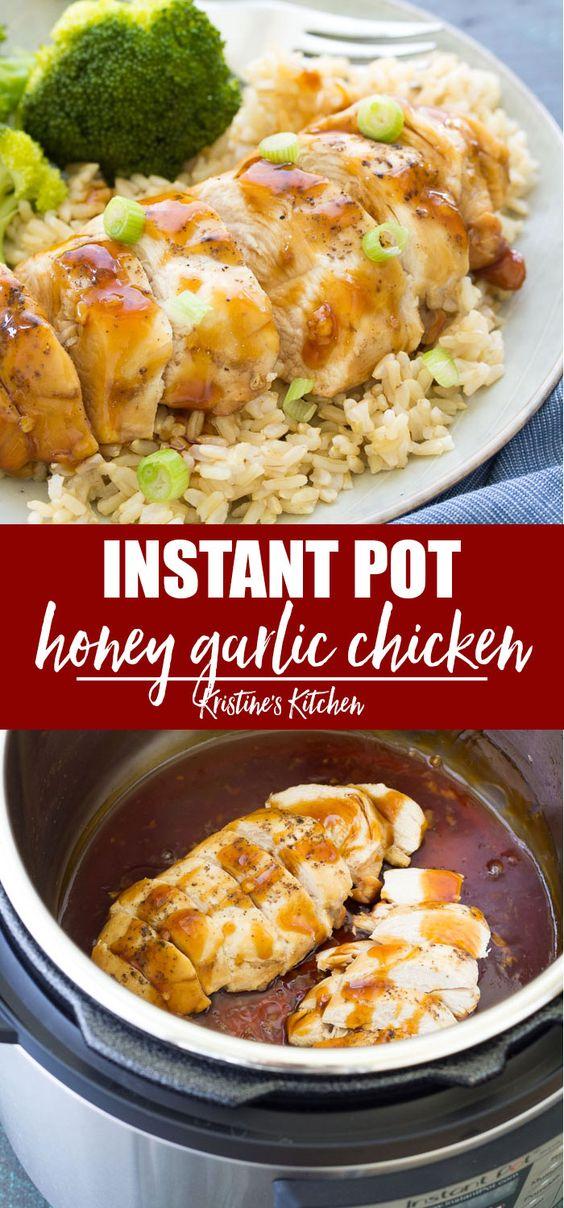Honey Garlic Instant Pot Chicken Breasts