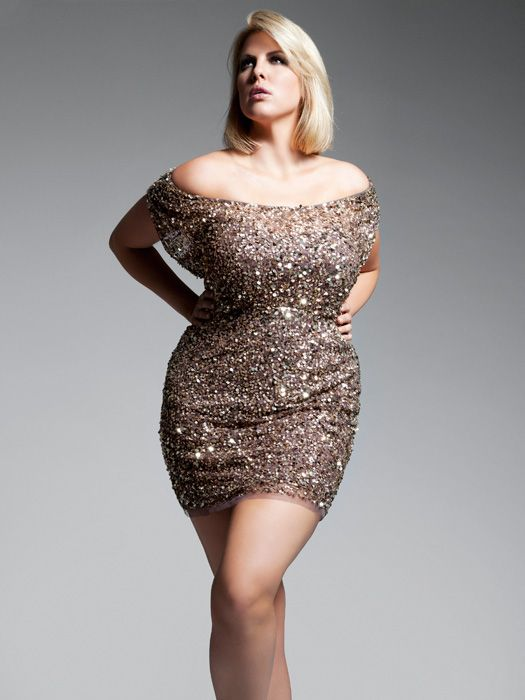 Sequin plus size cocktail dress
