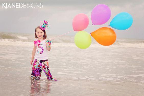 beach birthday balloons children's photograhy - www.kjanedesigns.com