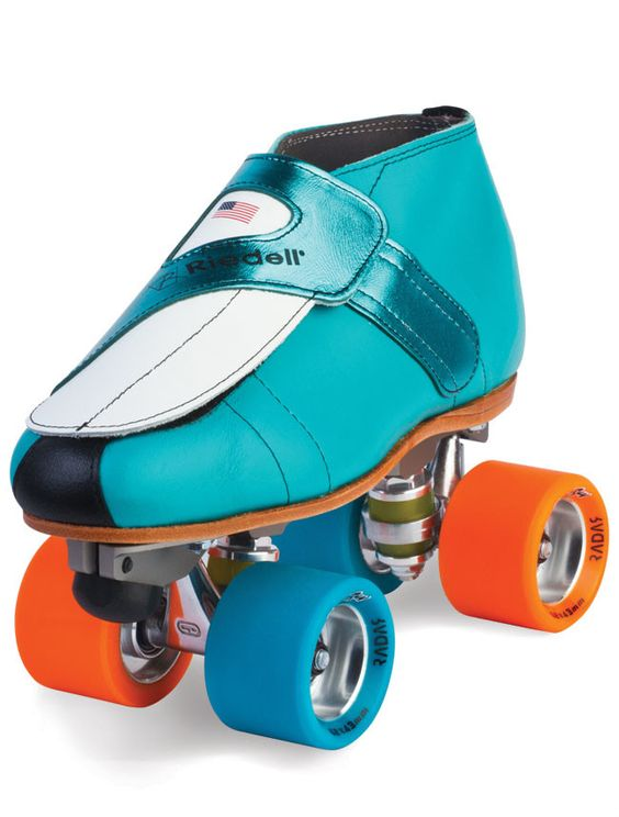 Boot: 911 ColorLab Plate: PowerDyne Rival Aluminum Wheels: Radar Speed Ray Wide Turquoise/Orange Bearings: KwiK Zenith Toe Stop: Jam Plug Sizes: 2-13 Full & Half - Medium width Mens Boot Sizes listed.