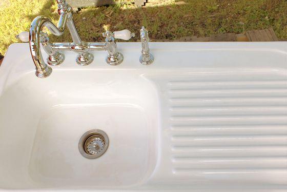 New 42 Antique Inspired Cast Iron Porcelain Single Drainboard Farm Sink Drop In Kitchen Sink Package Churlish Green Drainboard Sink Drop In Kitchen Sink Sink
