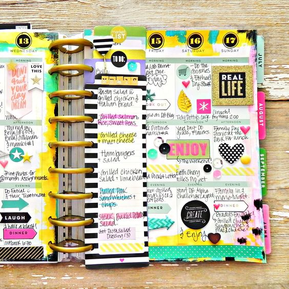 painty May weekly spread in the Happy Planner of mambi Design Team member Stephanie Buice | me & my BIG ideas: