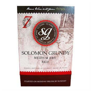 Solomon Grundy Table Wine Kit. Medium Dry Red wine kit.
