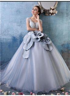 欧米風透かし彫りの綺麗目 ロングドレス 披露宴ドレス 結婚式ドレス