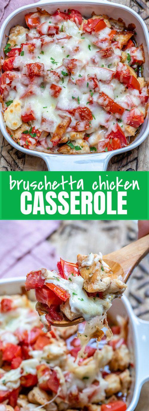 Bruschetta Chicken Casserole