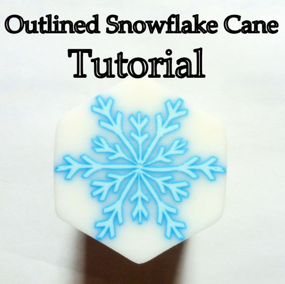 TUTORIAL  Outlined / Ghost Snowflake Cane by ClaybyKerm on Etsy,