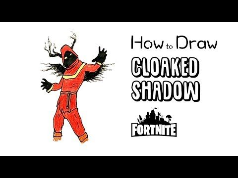 How To Draw The Cloaked Shadow From Fortnite With Images