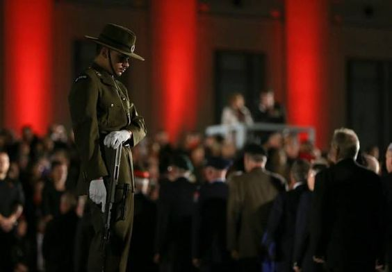 100th ANZAC Day dawn parade Auckland War Memorial Museum, New Zealand
