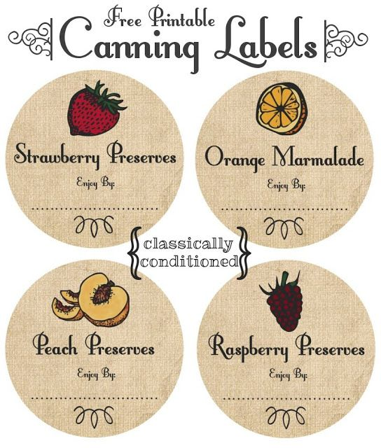 chutney label templates - free printable mason jar canning labels canning