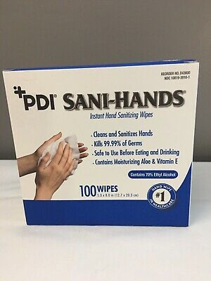 Details About Pdi Sani Hands Sanitizer Alcohol Wipes Individual