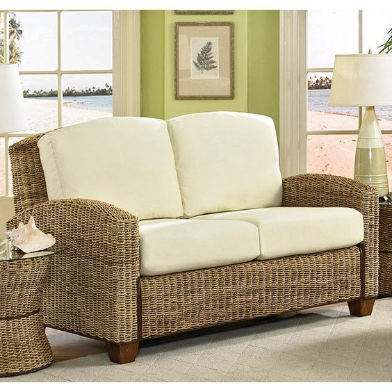 Wicker furniture isn't just for outdoors, it looks great inside as well!