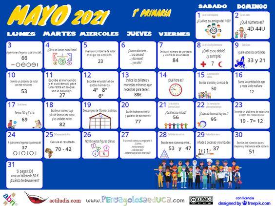 Calendario Primero ABN – Mayo 2021
