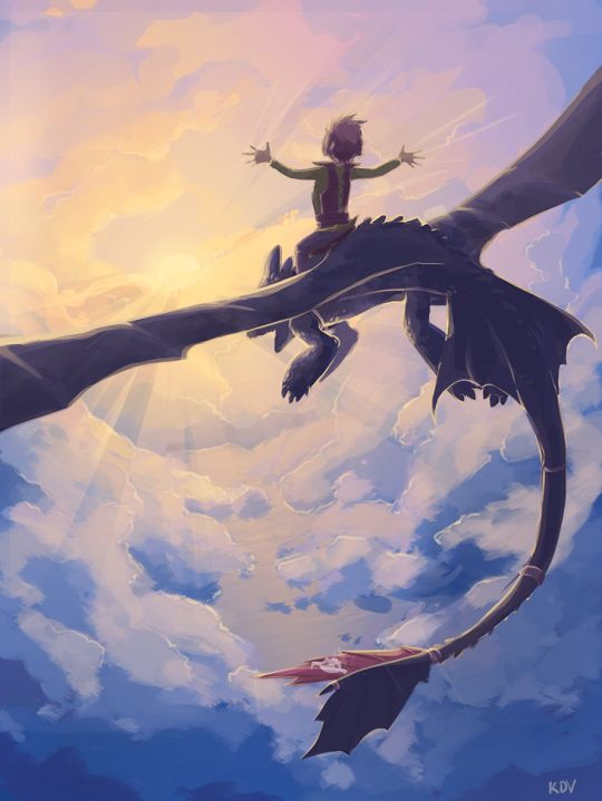Hiccup and Toothless flying. :) | Toothless | Pinterest ...