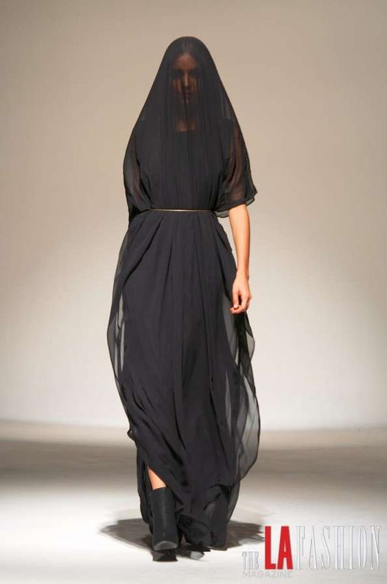 Good?  Evil?  Cloistered?  Seer?  Cursed?  So many possibilities...  From Mike Vensel's Spring/summer 2013 Collection.