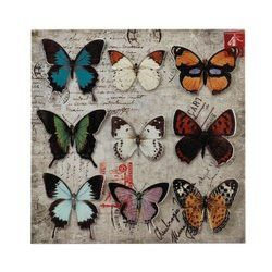 Collage Butterfly Tin Wall Art (pack of 1 EA)