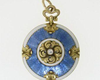 Enchanting Art Deco Diamond & Sapphire by myvintagediamondring