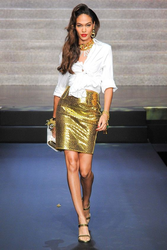 Joan Smalls at Jean Paul Gaultier Spring 2015 RTW