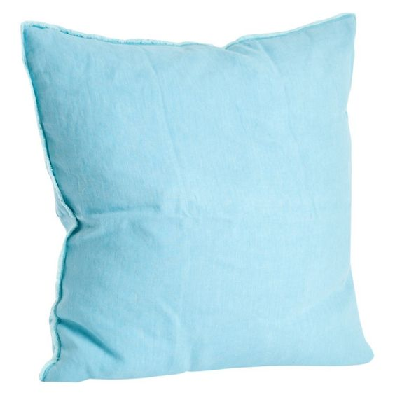 """Fringed Design Linen Throw Pillow (20""""x20"""") Saro Lifestyle,"""