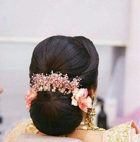 12 Beliebte Sudindische Brautfrisuren Frisuren Indianweddinghairstylesbuns Bridal Hair Buns Indian Bridal Hairstyles Long Hair Styles