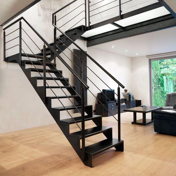 Stalen trap google zoeken idee n voor het huis pinterest google - Trap metaal hout ...
