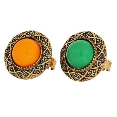 Sensual Green Yellow Pearl College Finger Rings By Maayra Rings on Shimply.com