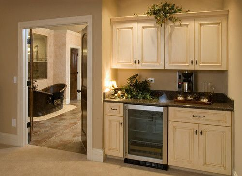 Coffee Maker In The Bedroom : Morning kitchen in Master Bedroom with built-in coffee maker and beverage refrigerator - King s ...