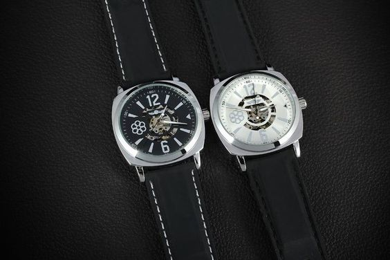 T-Winner New style Wrist Skeleton Mechanical Watch Rubber Band Man Watch Automatic-Forsining Watch Company Limited www.forsining.com