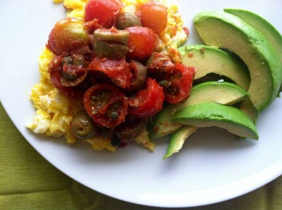 Scrambled Eggs Puttanesca_Nourish Paleo Foods