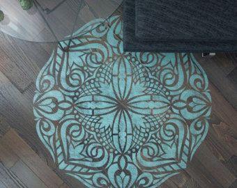 Plantillas de mandala estilo stencil plantilla de - Plantilla mandala pared ...