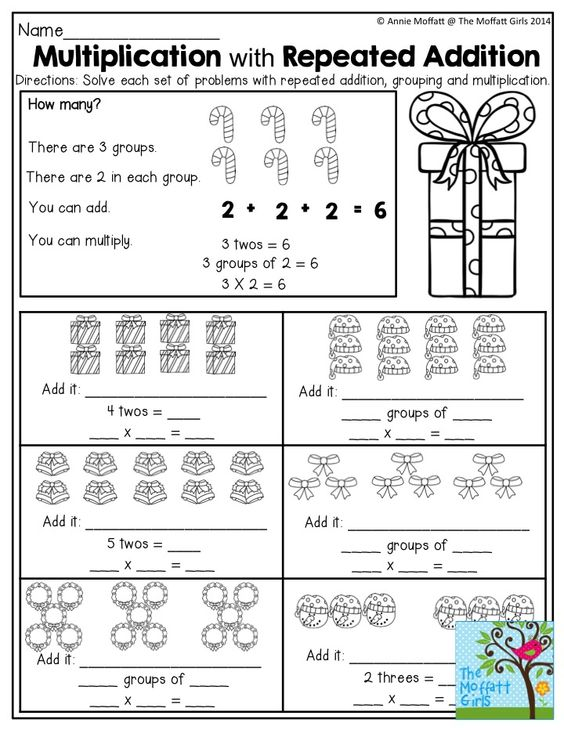 Multiplication and Repeated Addition- TONS of great worksheets in ...
