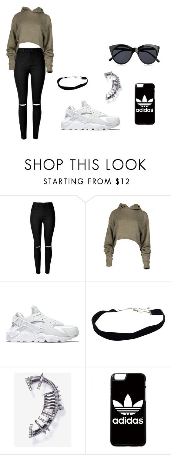 """""""Untitled #1"""" by just-for-fun-sj on Polyvore featuring NIKE, adidas and Le Specs"""