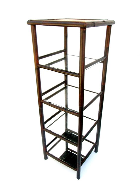 Vintage Bamboo 5-Tier Etagere