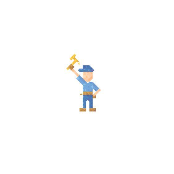 minimalist characters on Behance